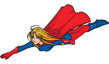 Flying Super girl